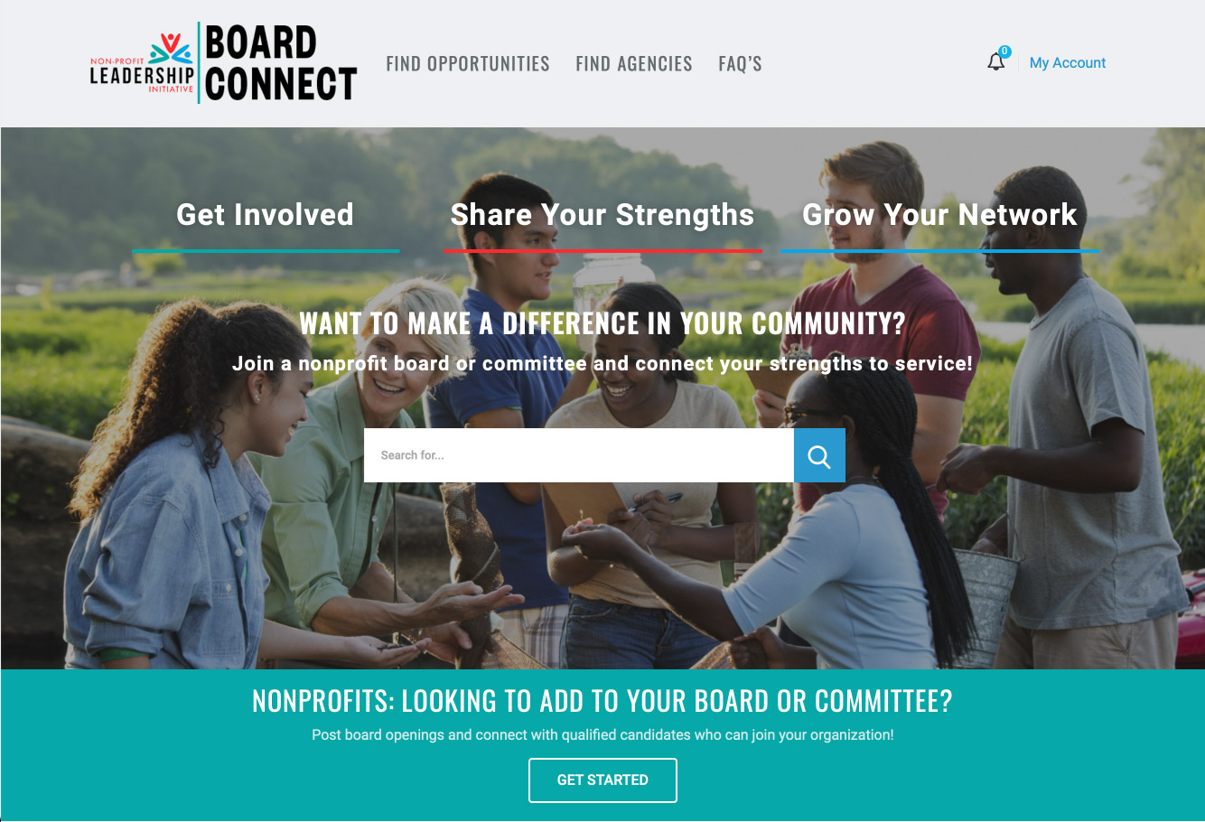 Board Connect Homepage